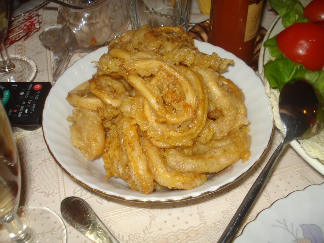 Кольца кальмара в китайском кляре