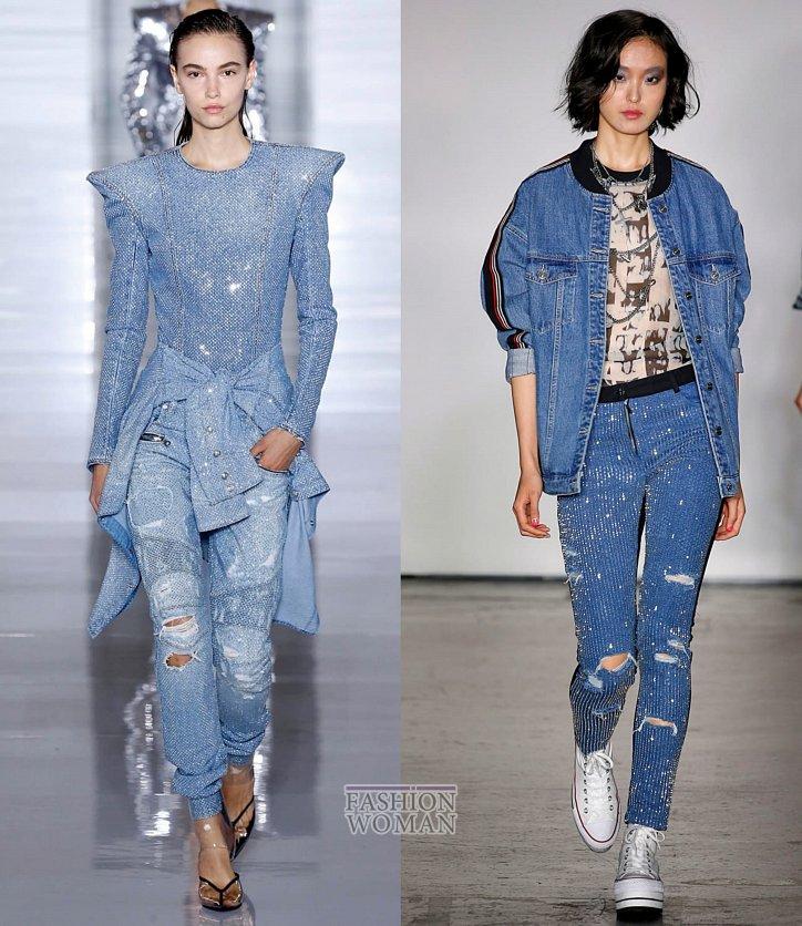 Модные джинсы весна-лето 2019 фото №12