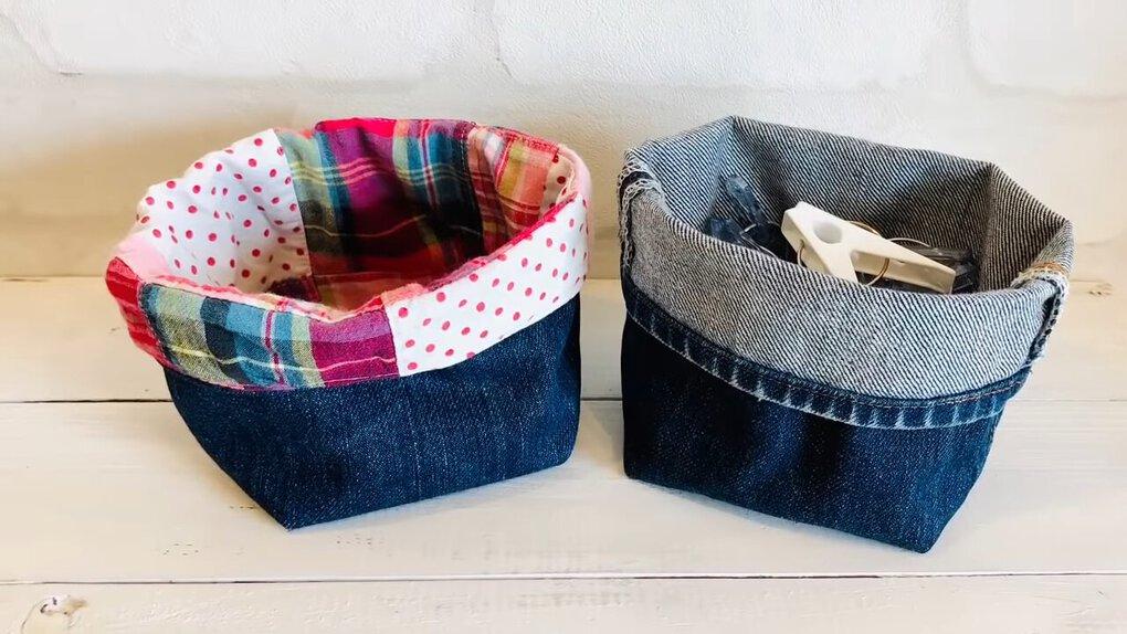 Старые джинсы + кусочек цветной ткани — бюджетная, но удачная идея