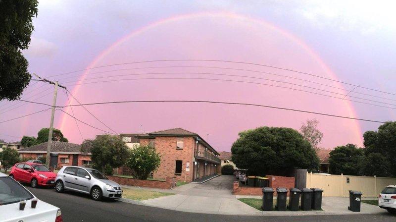 Интересная радуга природа, природные явления, удивительная природа
