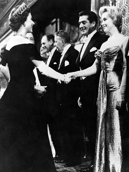 Мэрилин Монро и королева Елизавета II.