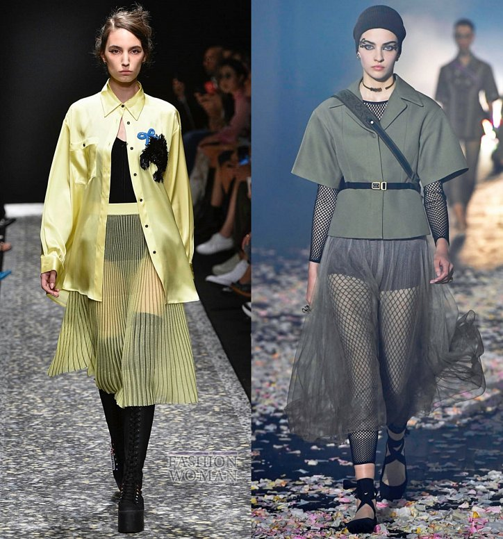Модные юбки весна-лето 2019 фото №13