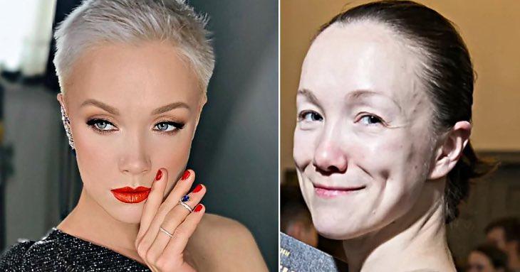 С макияжем они просто блистательны… но без красок лицо «стирается»