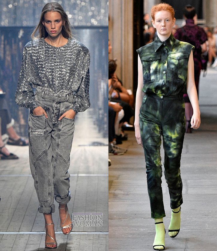 Модные джинсы весна-лето 2019 фото №2