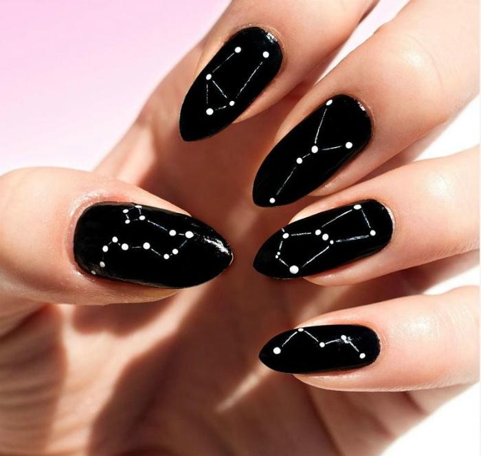 Созвездия на ногтях.