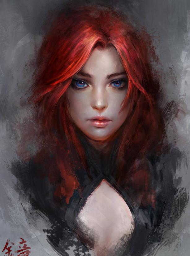Женский образ в цифровом рисунке
