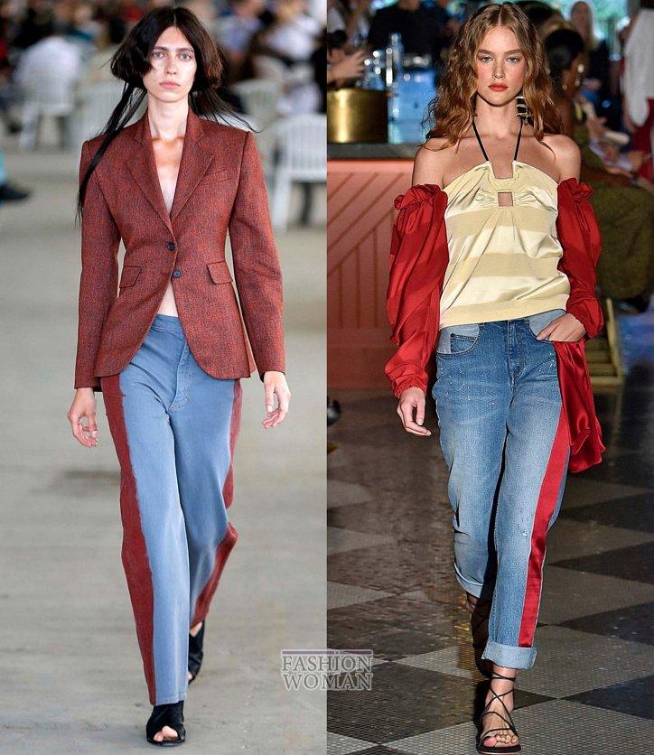 Модные джинсы весна-лето 2019 фото №37