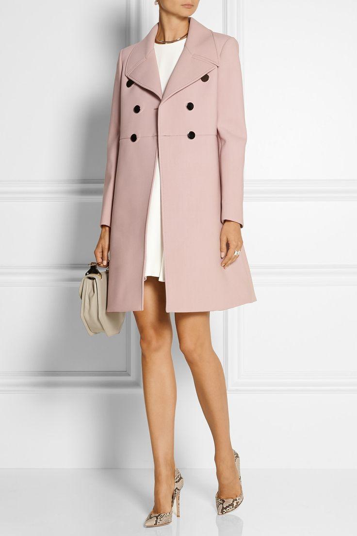 Розовое пальто с платьем