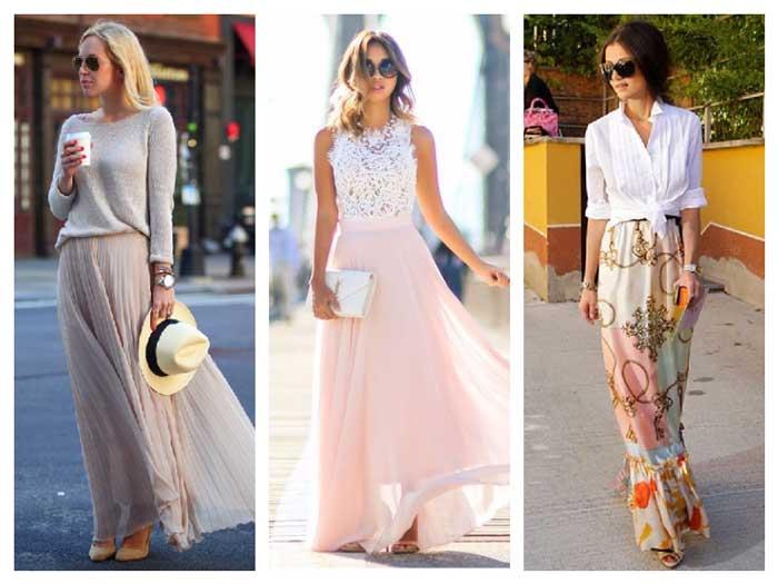 Длинные юбки 2017 с чем носить