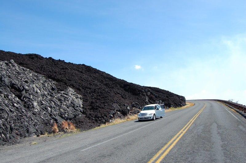 Разноцветные лавовые потоки америка, вулканы, гавайи, пейзажи, природа, путешествия