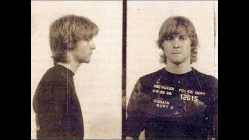Курт Кобейн. 1986 год. Незаконное проникновение в состоянии алкогольного опьянения, вандализм. арест, звезды, полиция, правонарушение