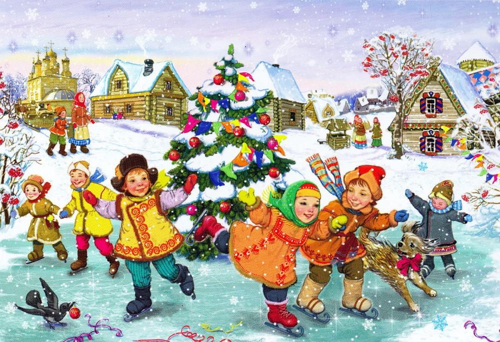 Открытка новогодние каникулы, днем рождения