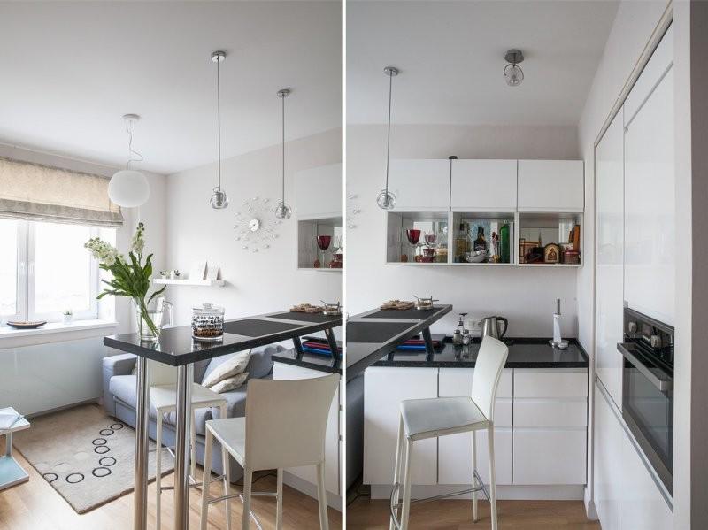 Белый цвет всегда визуально увеличивает пространство дизайн, интерьер, маленькая кухня, полезные советы для дома, фото