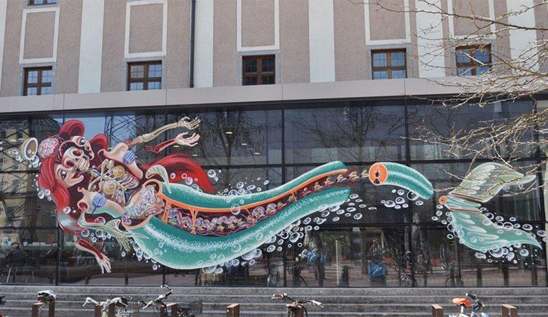 Уличное искусство, которое действительно впечатляет! стрит арт