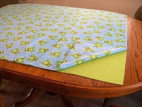 Двойное одеяло без шитья для дома и дачи,мастер-класс
