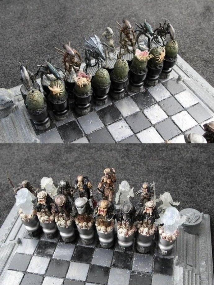 Чужие против Хищников искусство, красота, мастерство, невероятное, талант, шахматы