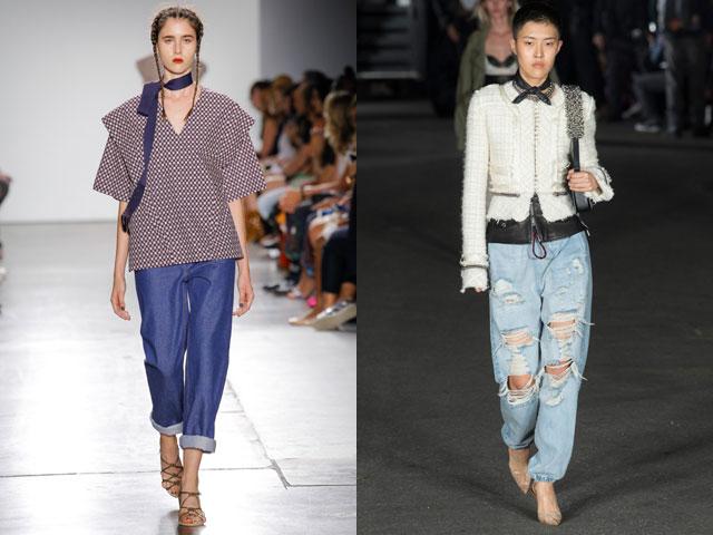 Модные джинсы бойфренды 2018