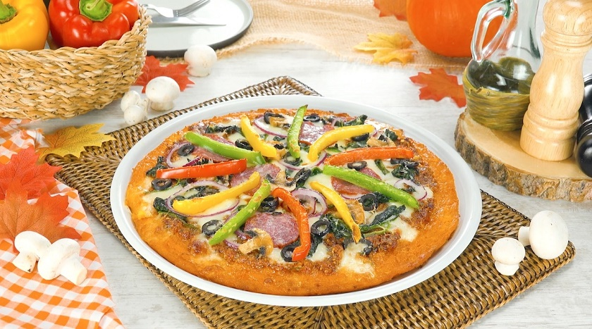Низкокалорийная пицца из тыквенного теста: вкуснейший результат