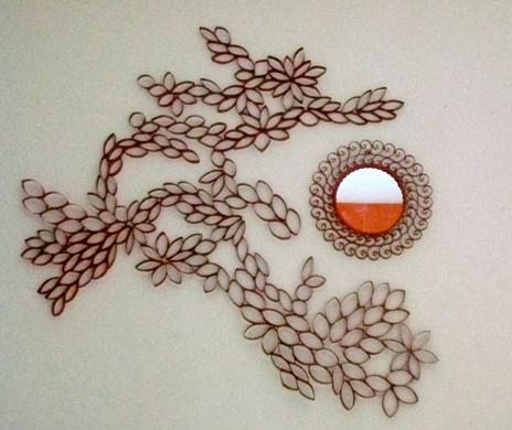Декор стен с помощью картона