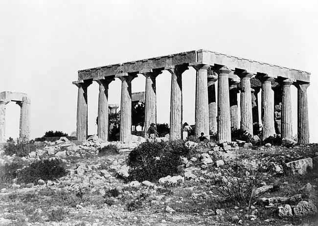 Храм Ники Аптерос, Греция, 1850-1880 интересно, исторические кадры, исторические фото, история, ретро фото, старые фото, фото