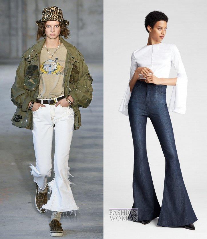 Модные джинсы весна-лето 2019 фото №29