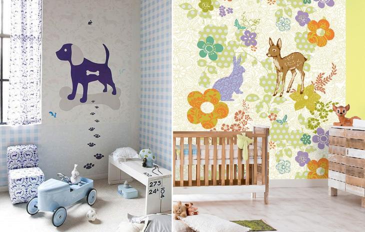 Панно в детскую на стену из обоев