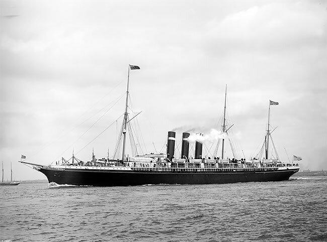 """Океанский лайнер """"Париж"""", около 1890 интересно, исторические кадры, исторические фото, история, ретро фото, старые фото, фото"""