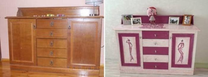 Скучный комод можно превратить в милую мебель для детской комнаты до и после, идея, мебель, ремонт, своими руками, фантазия