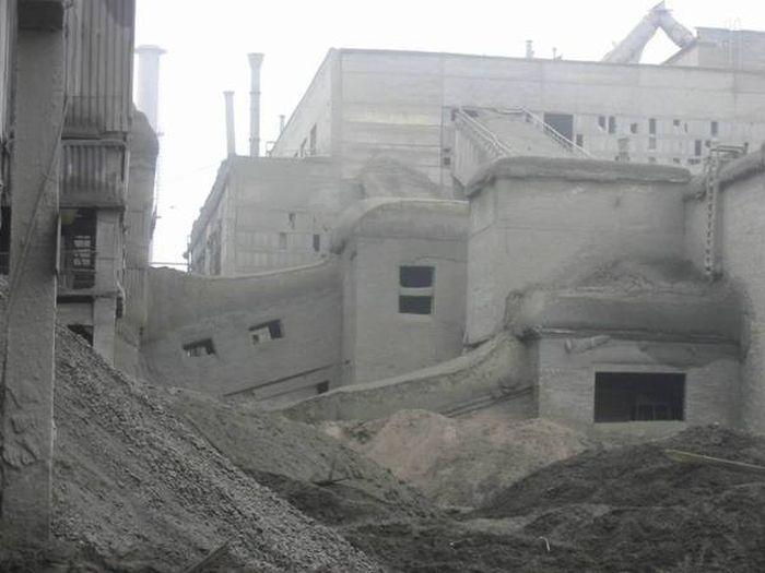 Цементный завод вид изнутри (6 фото)