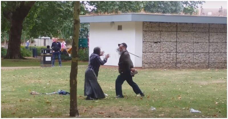 Исцеление цыганки с помощью трости