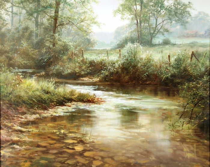 82208527_David_Dipnall_The_stream_in_summer (699x556, 505Kb)