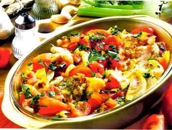 Кулинария: филе трески,запеченное с овощами