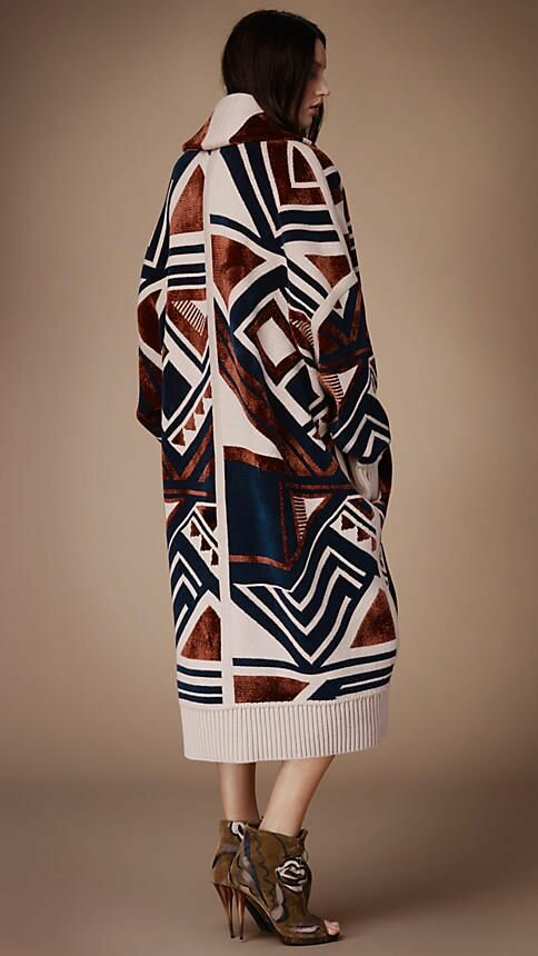 Geometric Knit Blanket Coat | Burberry