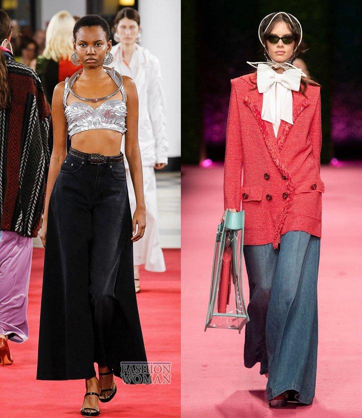Модные джинсы весна-лето 2019 фото №27