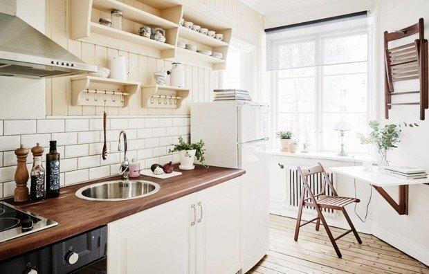 15 остроумных способов выжать из маленькой кухни максимум