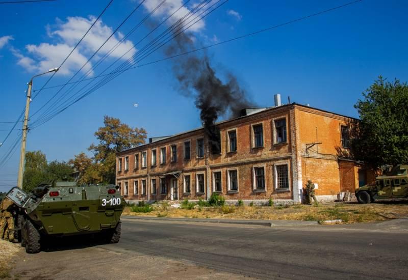 БТРы, вертолёты и Humvee: Нацгвардия Украины показала «противодиверсионные» тренировки в Славянске Новости