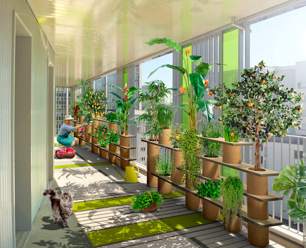 Балкон, веранда, патио в цветах: серый, светло-серый, темно-зеленый, бежевый. Балкон, веранда, патио в .