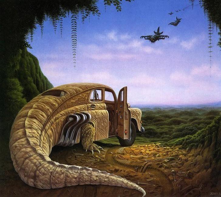 Чем дольше смотришь, тем больше видишь: сюрреалистические миры Яцека Йерки