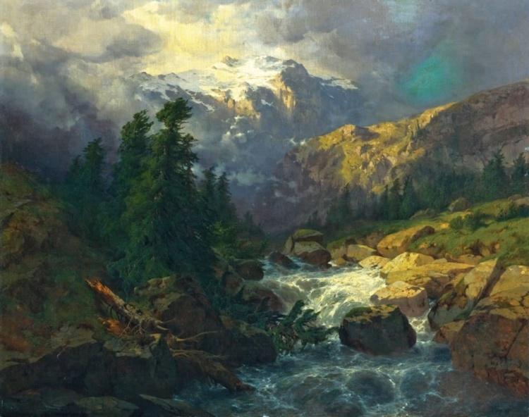 Художник Alexandre Calame (1810 – 1864)