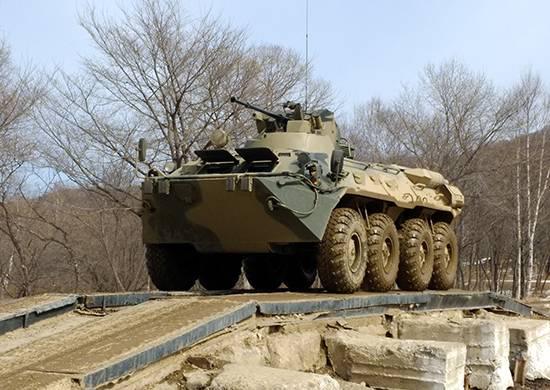 Морпехи ТОФ обкатывают новые бронетранспортеры