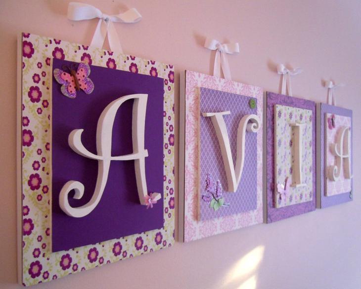 Панно для детской с буквами