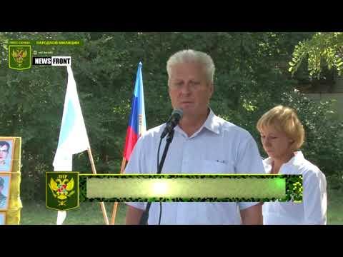 В Краснодонском районе открыли памятник погибшим ополченцам Донбасса