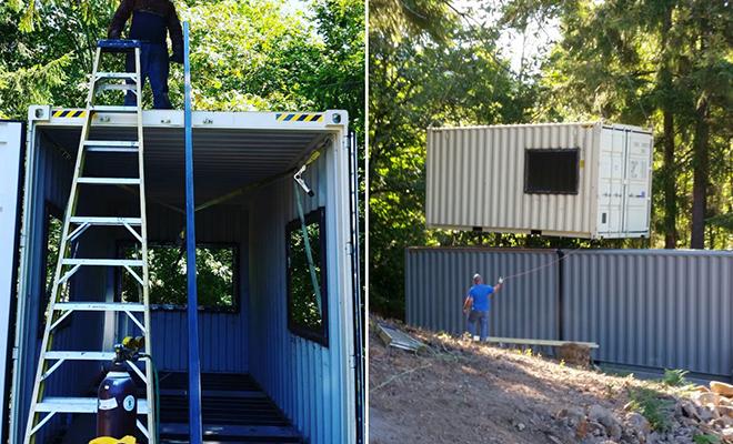 Семья сделала дом из грузовых контейнеров из 37 квадратов, в который поместилась квартира в 2 этажа Культура