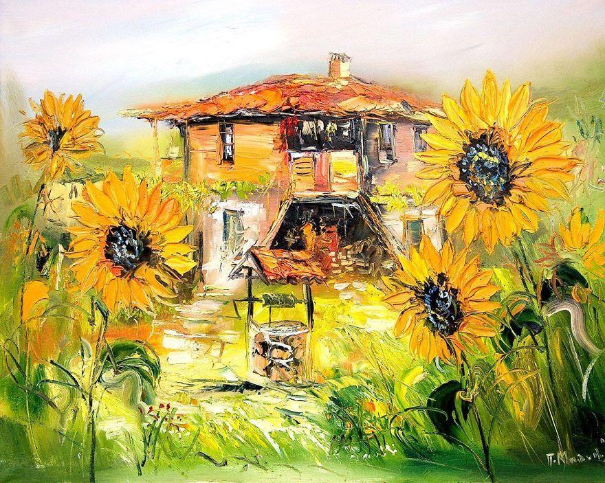 Болгарский художник пишет удивительно живые и яркие картины с домами. Хоть селись в них!