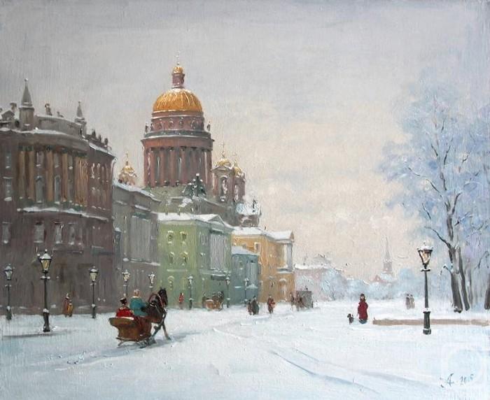 Зимний Петербург на картинах Александра Александровского город