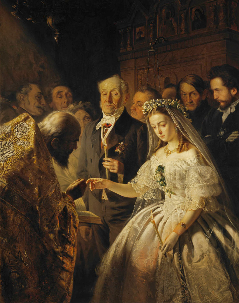 Картина «Неравный брак»: как сложилась судьба юной невесты