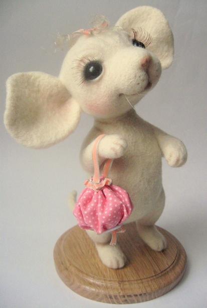 Войлочные игрушки - мышка. Фото