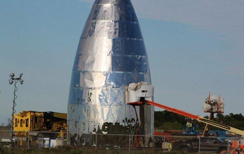 В сети появились фото сборки самой большой ракеты SpaceX - Starship SpaceX, Starship, Starshiphopper, elon, Илон Маск, космос