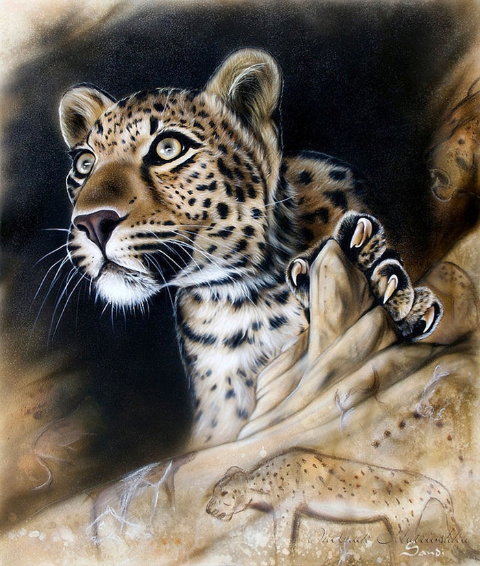 Потрясающие реалистичные рисунки животных