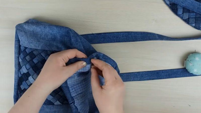 Удивительный способ утилизации старых джинсов одежда,переделки,рукоделие,своими руками,сделай сам